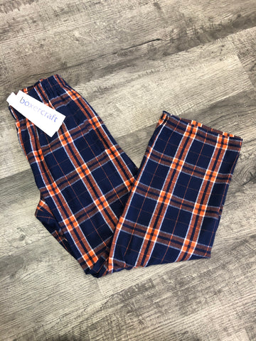 Boxer Craft- Orange/Navy Buffalo Plaid