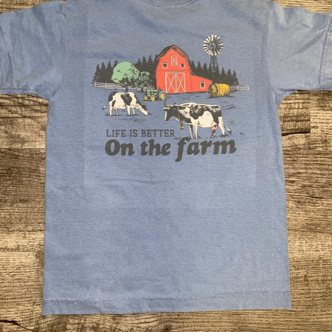 Jane Marie- Life Is Better On The Farm Youth T-Shirt