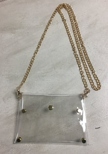 Clear Crossbody Clutch