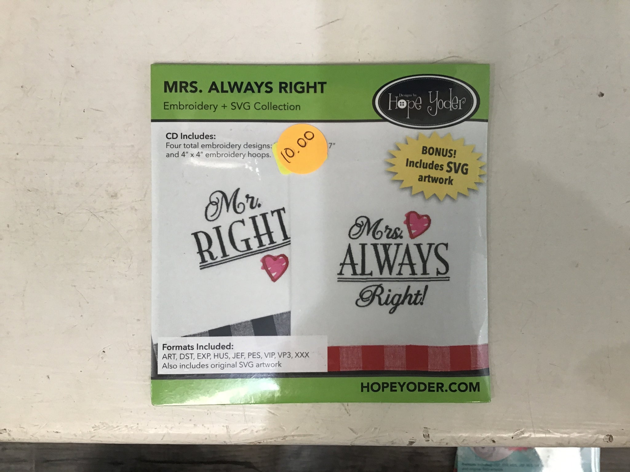 Mrs. always right embroidery collection