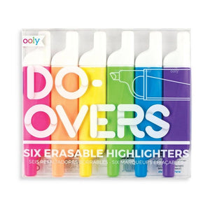 Ooly- Do Overs Erasable Highlighters (set of 6)