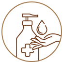 use gya labs disinfectant spray to sanitize skin and hands