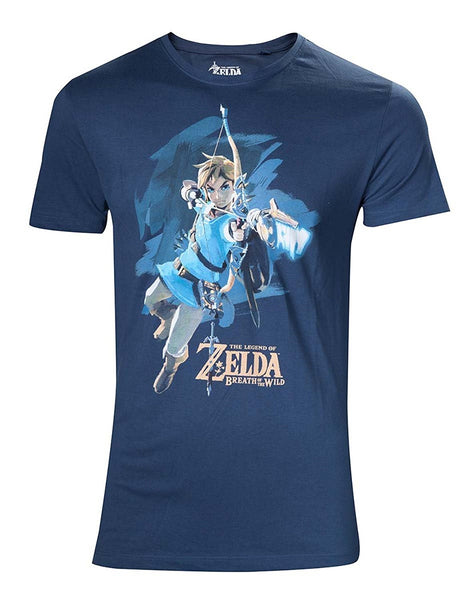 The Legend of Zelda - Breath of the Wild T-Shirt Link med Bue (UDSALG) - Full Combo