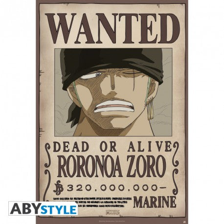 One Piece - Wanted Roronoa Zoro Plakat (91.5x61cm) - Full Combo