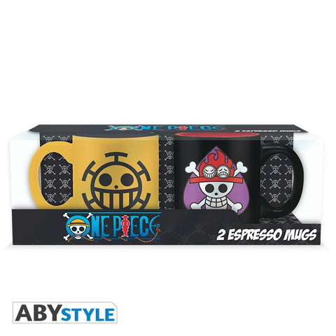 One Piece - Mini Espresso Krus Trafalgar & Ace Set - Full Combo