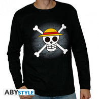 One Piece -  Skull with Map Langærmet T-shirt - Full Combo