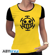 One Piece - Trafalgar Law Gul T-shirt Dame - Full Combo