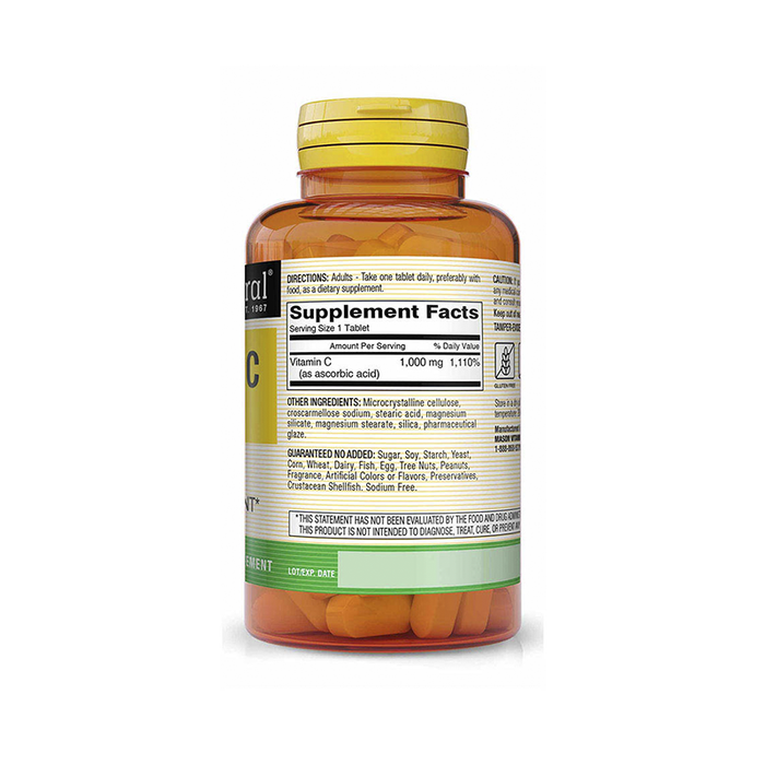 Vitamina C 1,000mg 100 tabletas Mason Natural