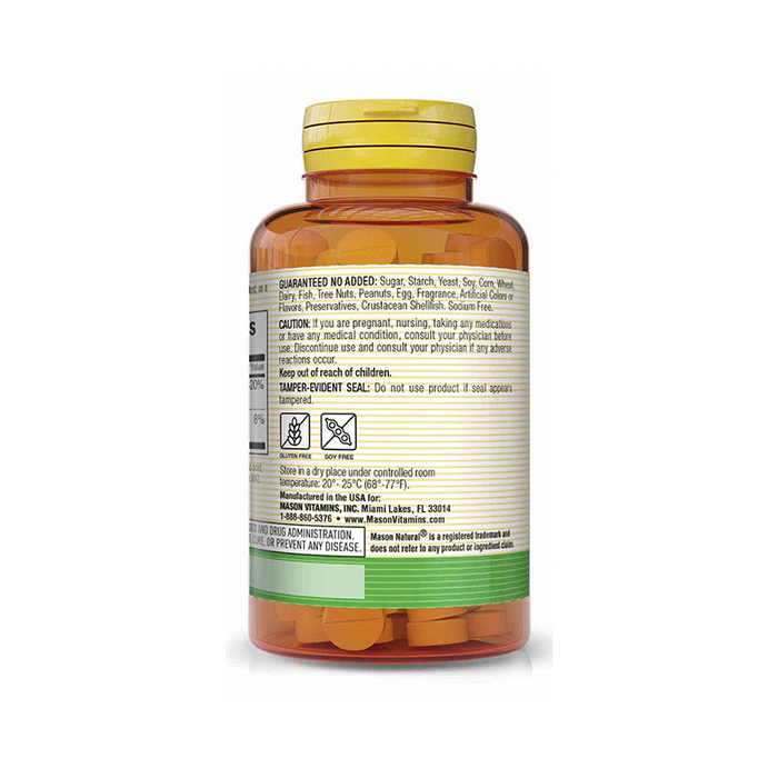 Vitamin B12 250 mcg 100 tabletas Mason Natural
