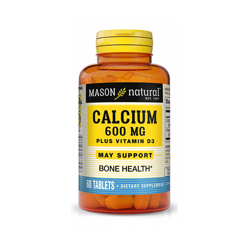 Super Calcio 600mg + D3 60 tabletas Mason Natural