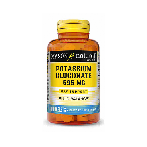 Gluconato de Potasio 595 MG 100 tabletas Mason Natural