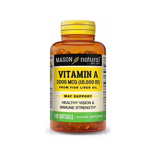 Vitamina A 10,000 UI 100 softgels Mason Natural