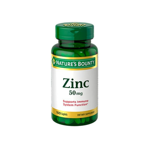 Zinc 50mg 100 comprimidos Natures Bounty