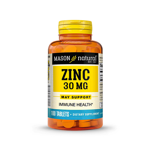 Zinc 30mg 100 tabletas Mason Natural