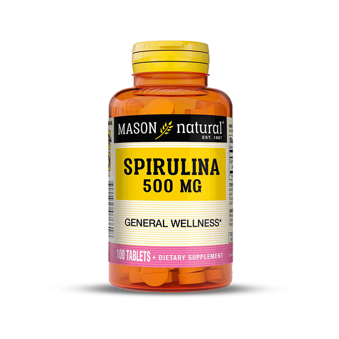 Espirulina 500mg 100 tabletas Mason Natural