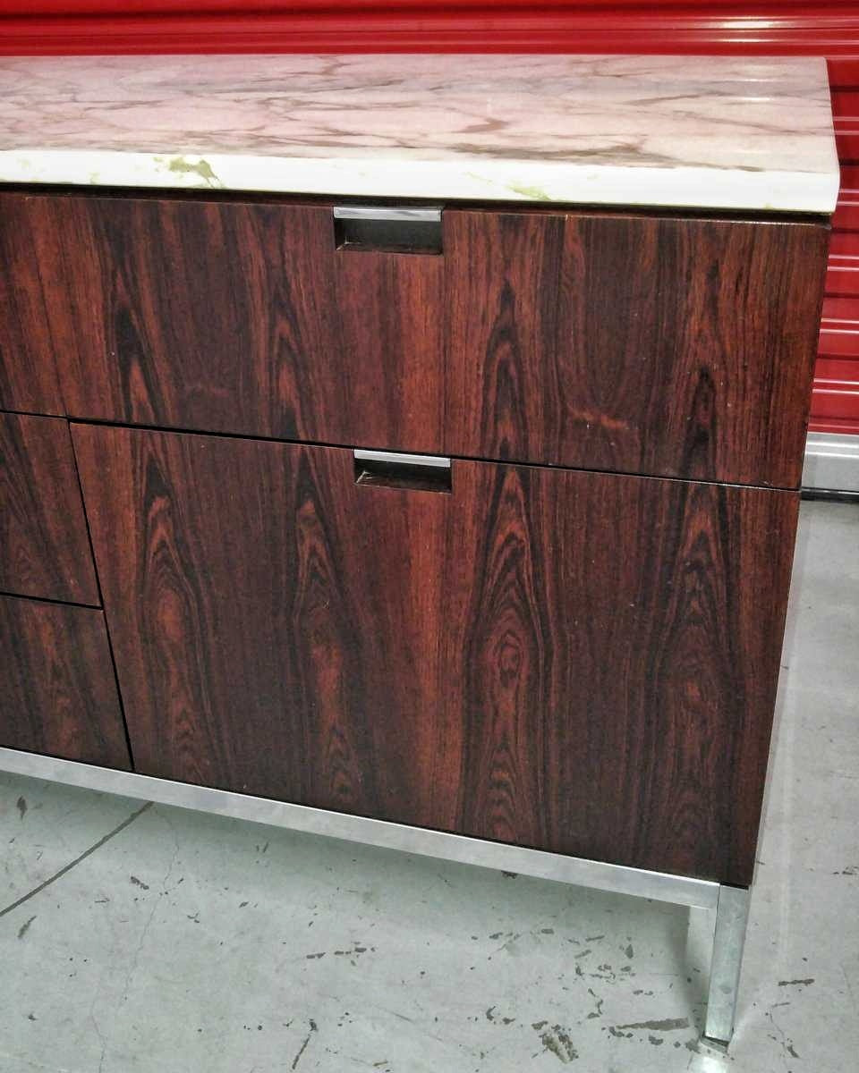 FLORENCE KNOLL BRAZILIAN ROSEWOOD CREDENZA FOR KNOLL