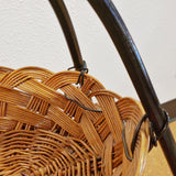 CATCH-ALL IN WICKER AND BENT STEEL