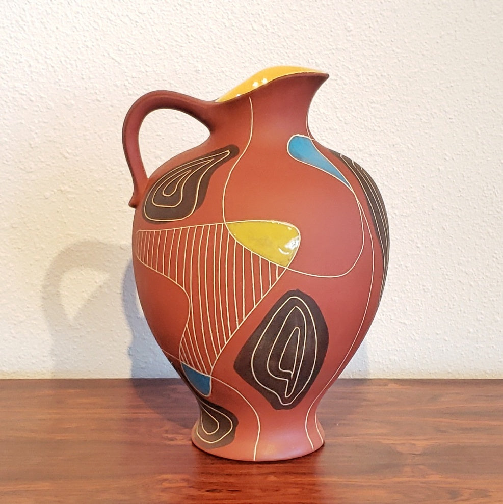 BODO MANS 'BRASIL' FLOOR VASE 291/40 FOR BAY KERAMIK (RARE)