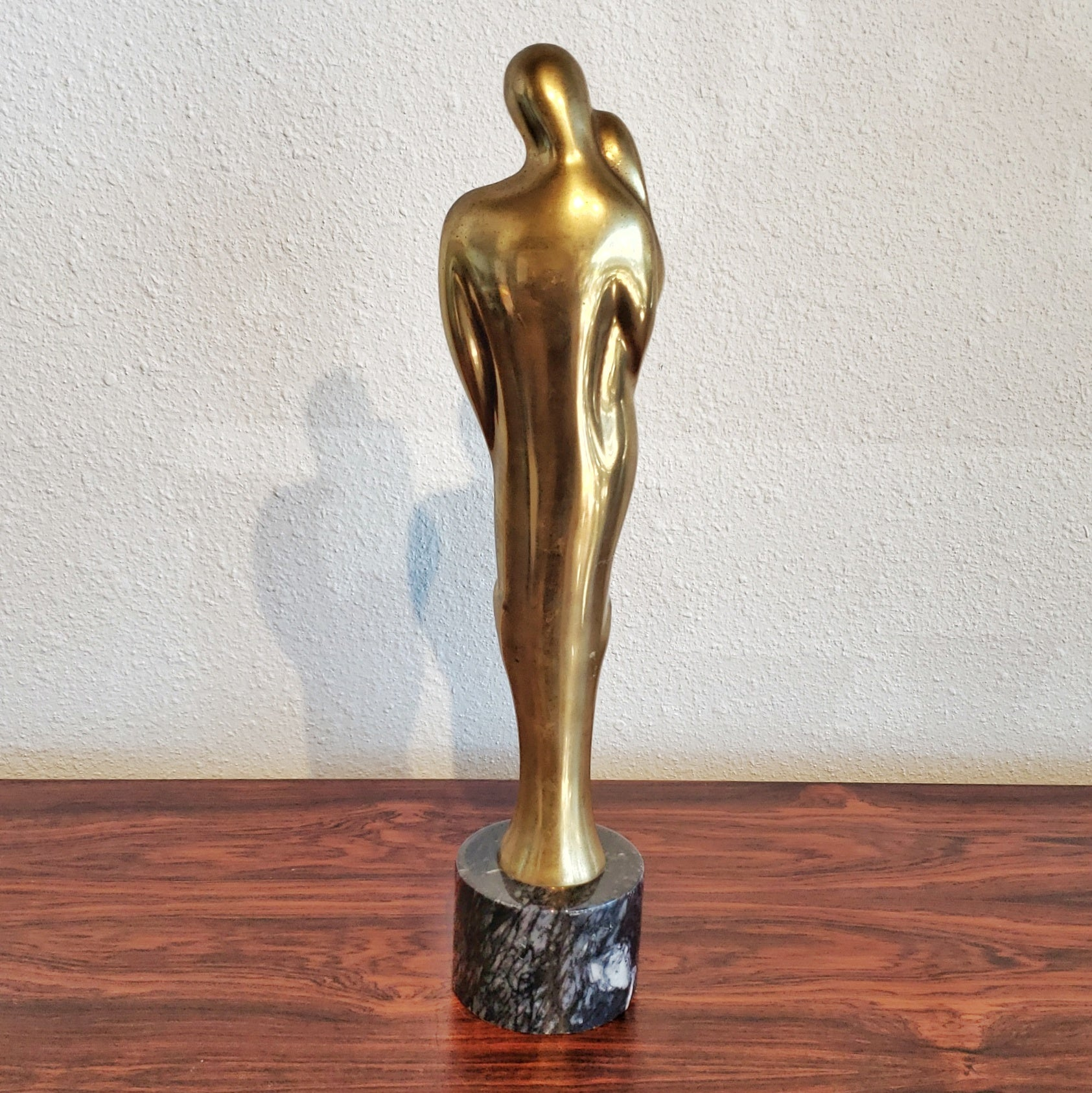 SOLID BRASS FAMILY STATUETTE AFTER JEAN ARP