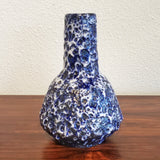ES KERAMIK BLUE AND WHITE FAT LAVA VASE 602/22