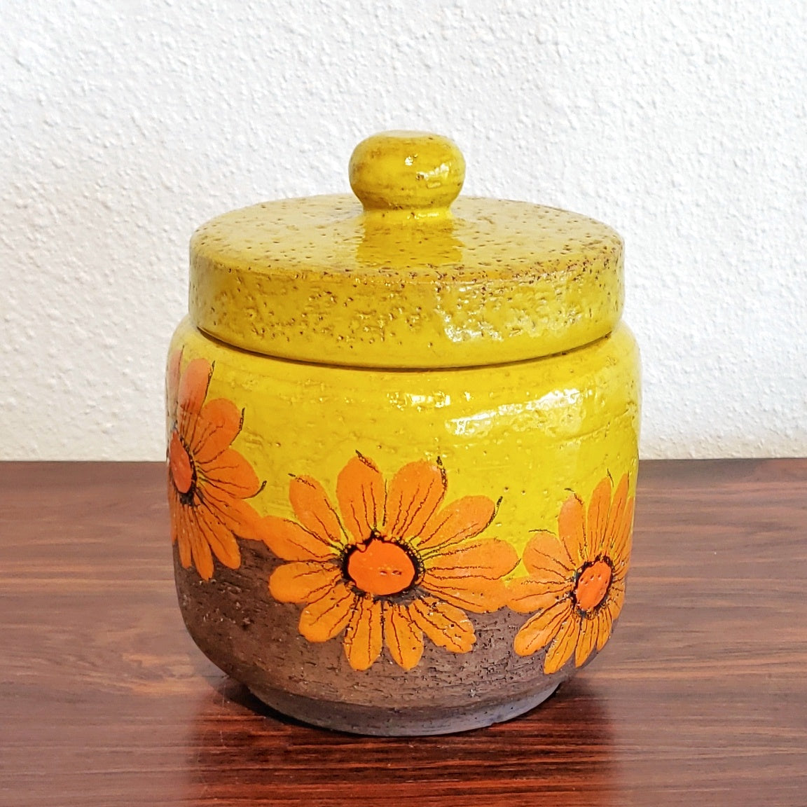 ALDO LONDI FLOWER POWER LIDDED JAR FOR BITOSSI