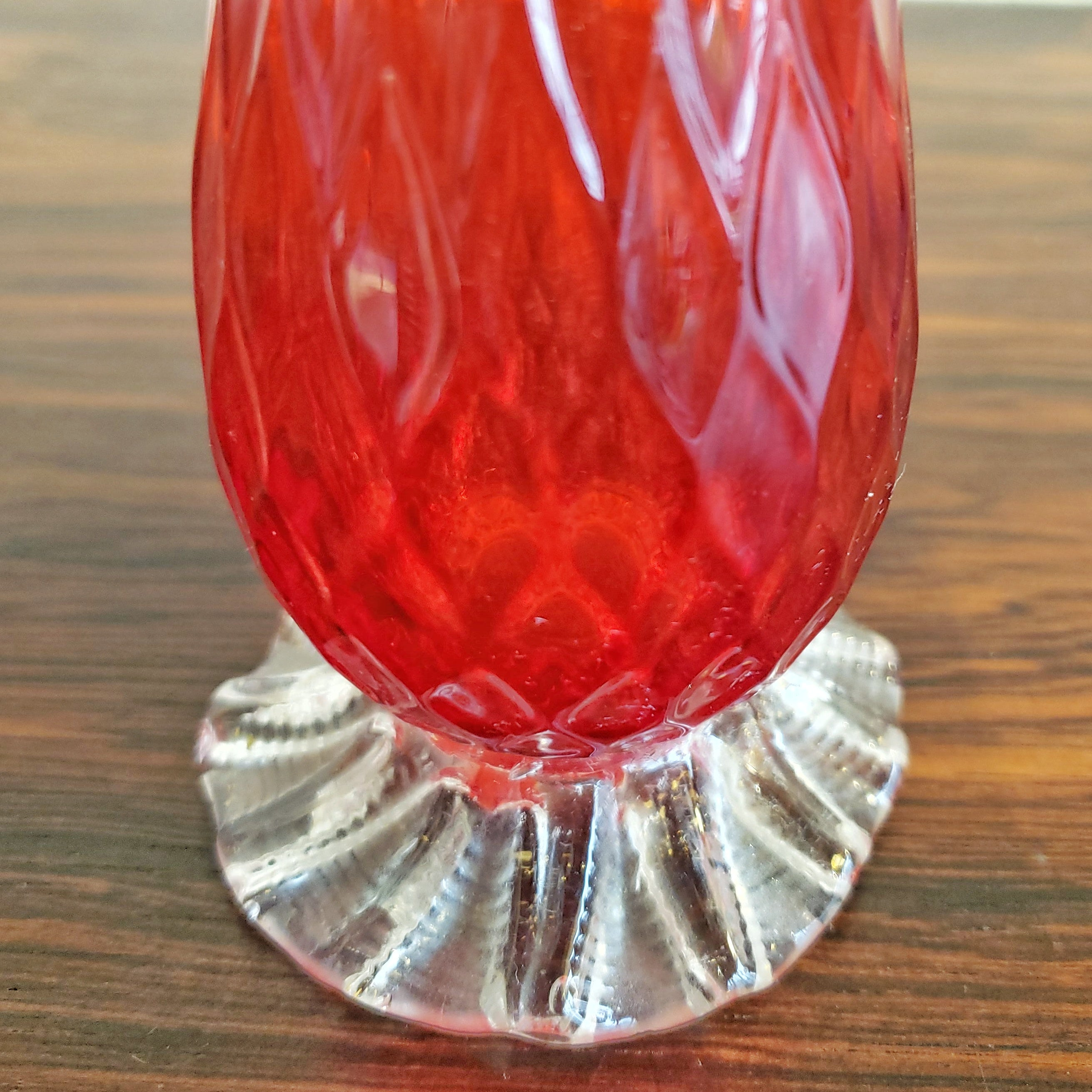 BAROVIER AND TOSO CARNELIAN RED MURANO GLASS VASE 1 of 2
