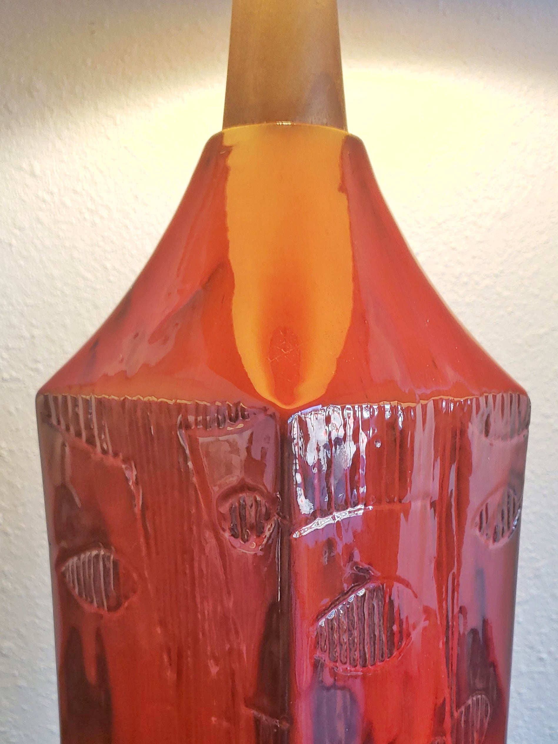 CANADIAN STUDIO POTTERY TABLE LAMP - UNSIGNED