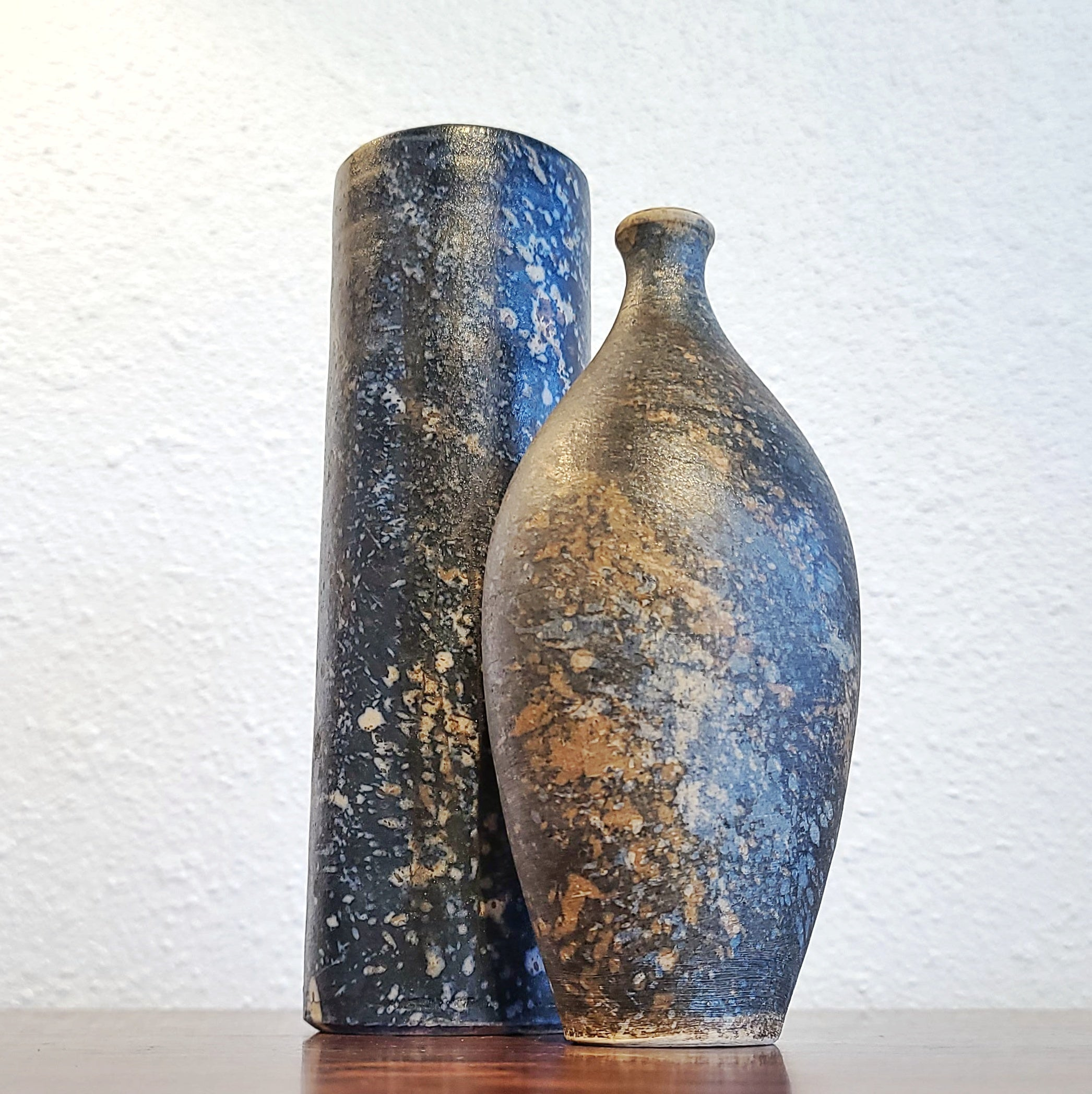 PAIR OF  VASES BY GERHARD LIBENTHRON (1974 & 77)