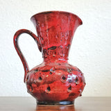 RED ITALIAN 'COMO' DECOR PITCHER VASE (HANDMADE)
