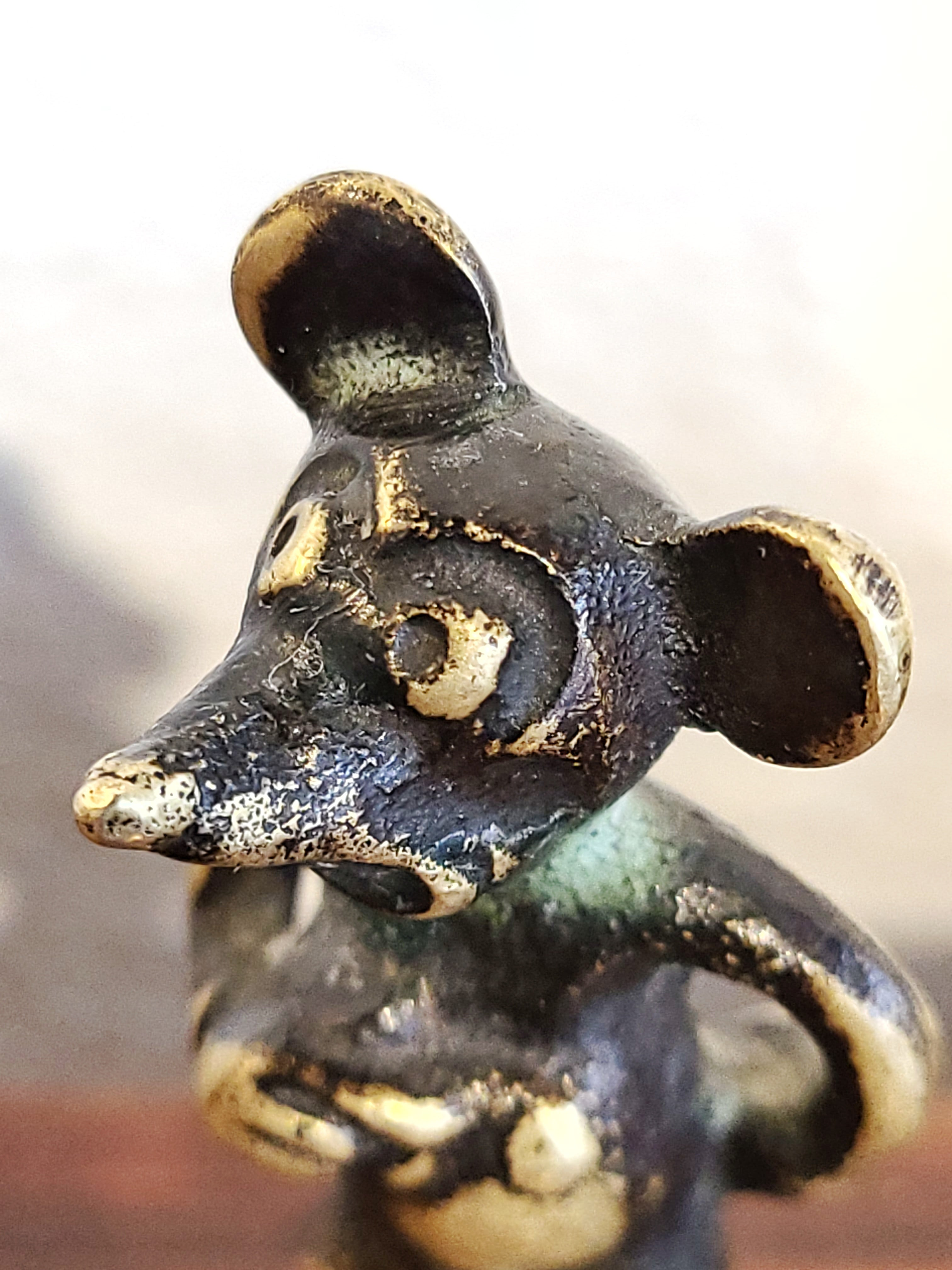 VERY RARE AUSTRIAN BRASS MICKEY MOUSE FIGURE