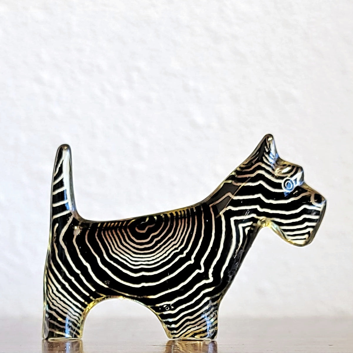 OP ART SCOTTISH TERRIER BY ABRAHAM PALATNIK FOR SILON (BRAZIL)