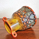 UNUSUAL ALVINO BAGNI 'AUTUMN SUNSET' VASE (ITALY)