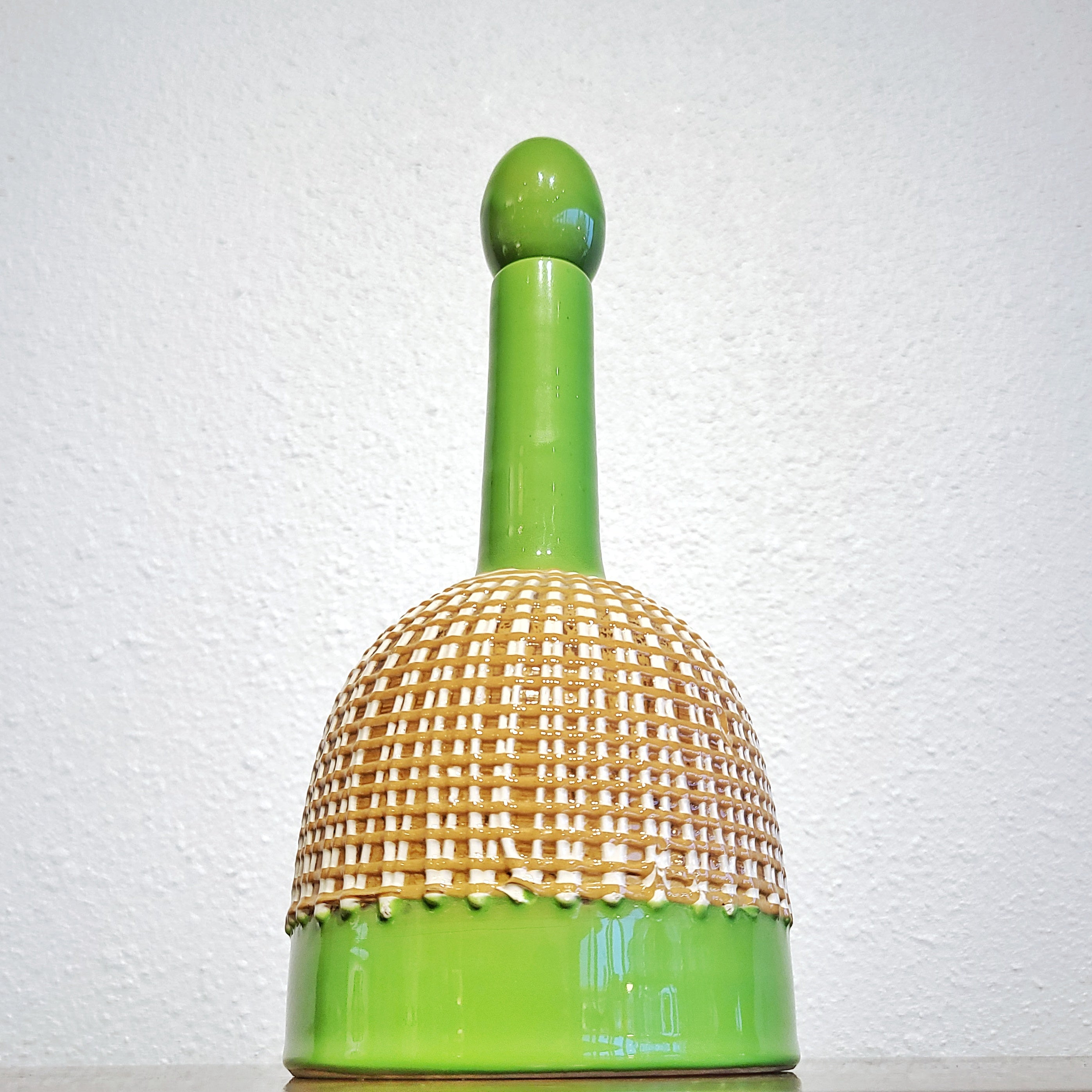 GREEN FRATELLI FANCIULLACCI DECANTER WITH STOPPER