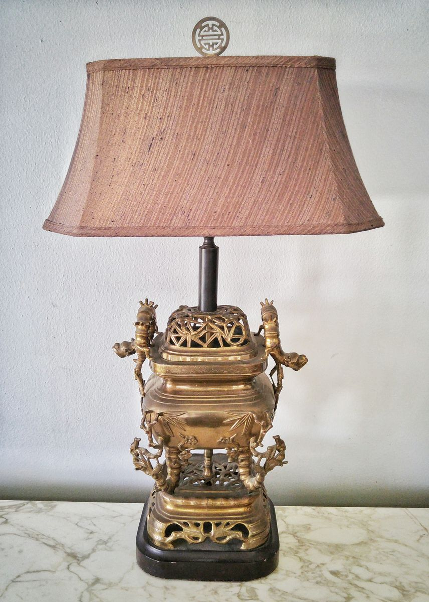 CHINOISERIE ART DECO TABLE LAMP