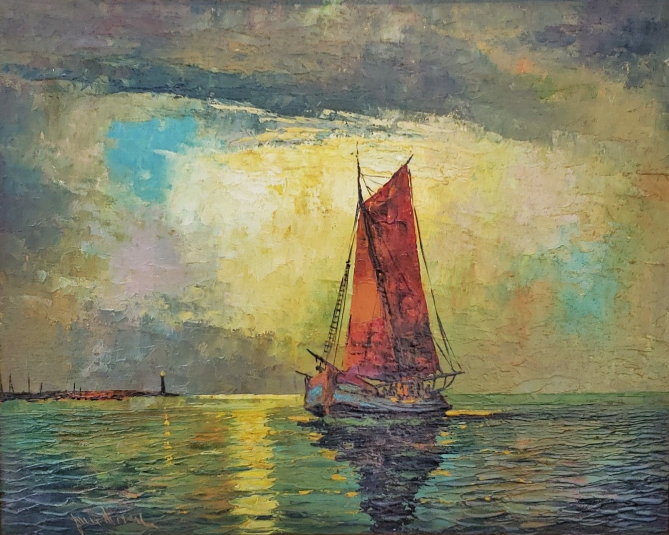 """RED SAILS"" OIL ON CANVAS"