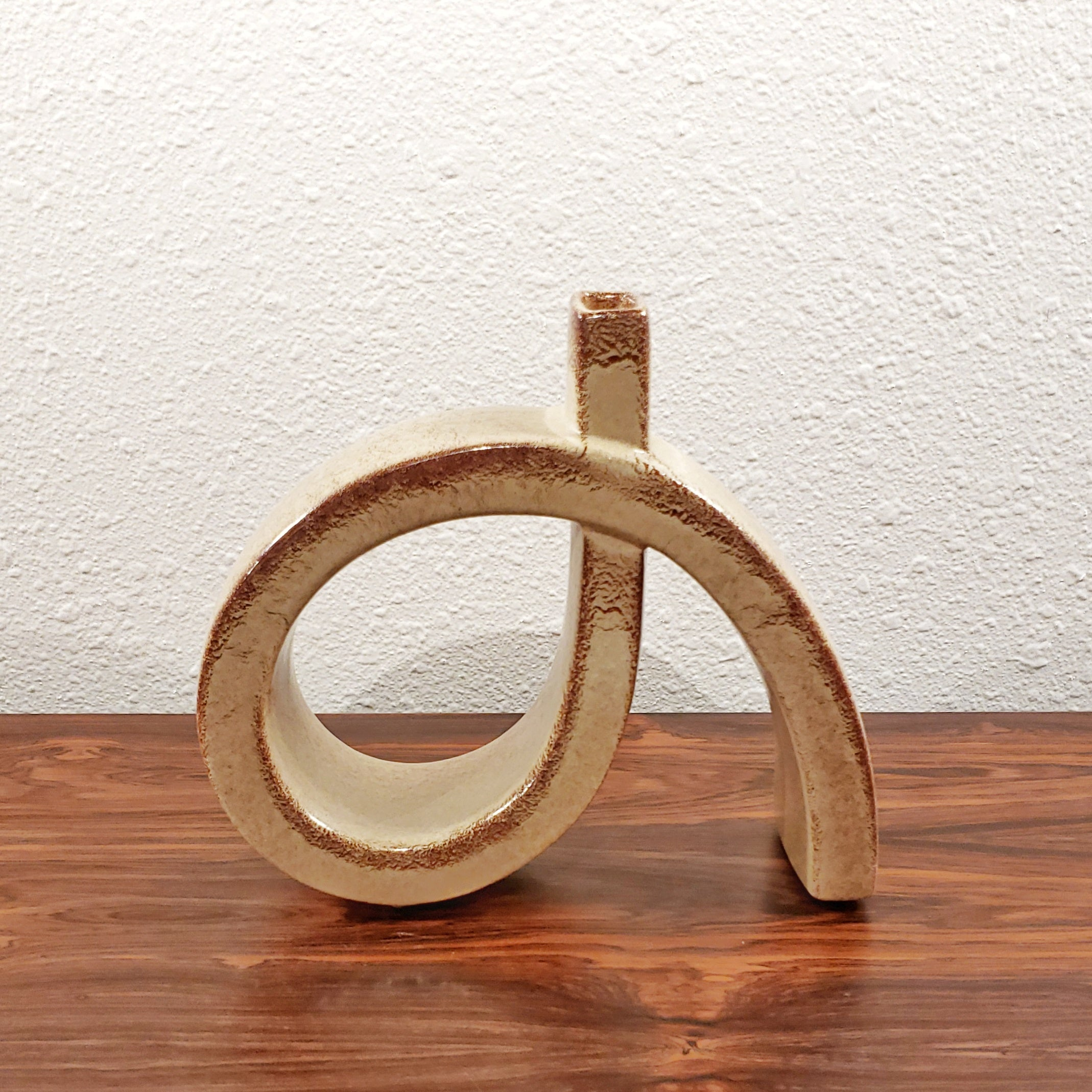 BERTONCELLO 'SCREZIATO HAVANA' LOOP VASE