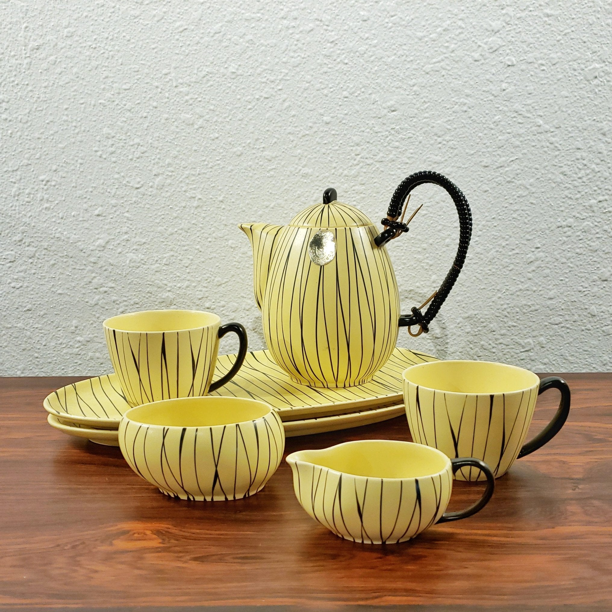 SEBASTIANO BUSCETTA 'MEHIKANA' TEA SET FOR GRÄFLICH ORTENBURG