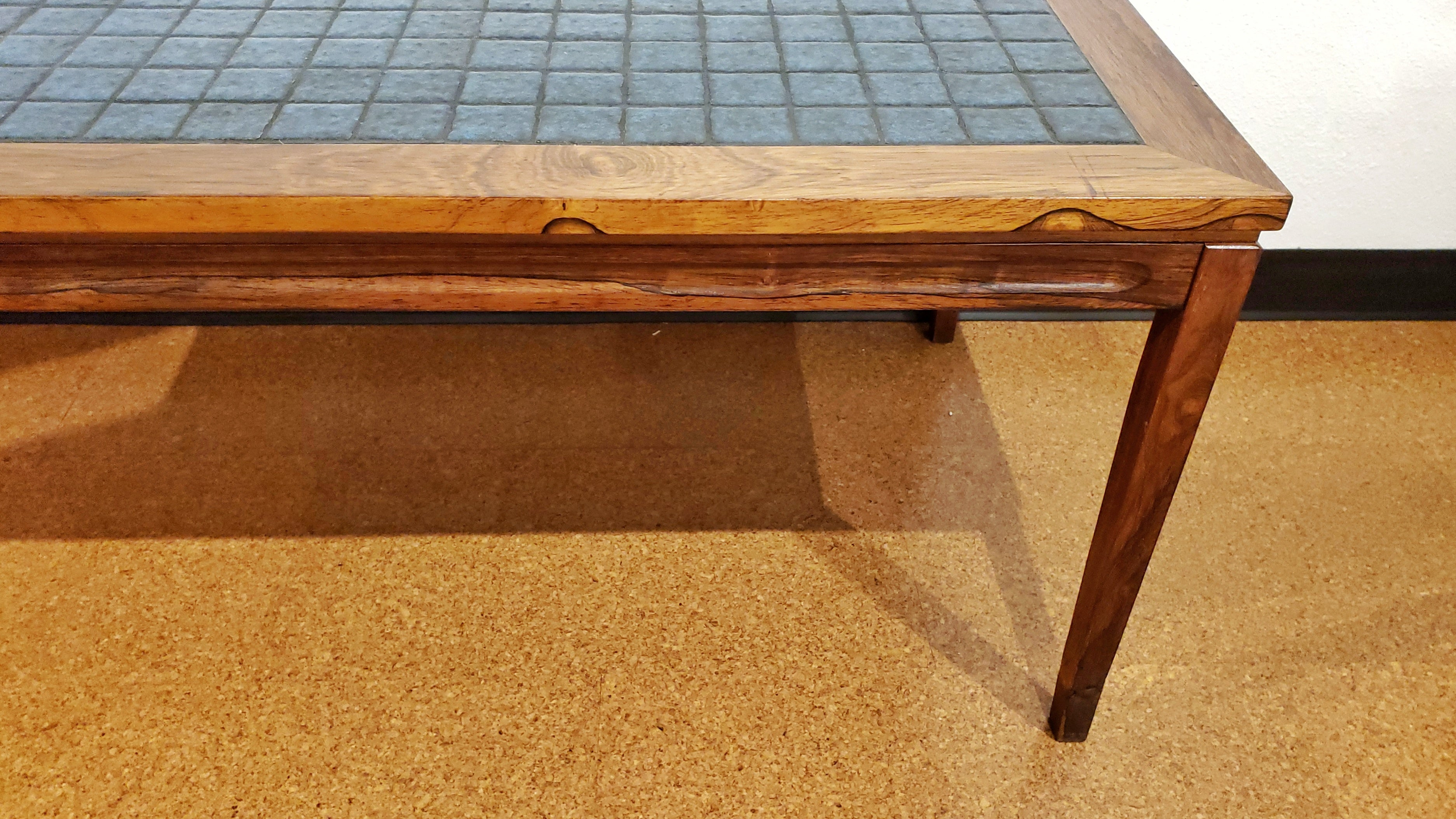 DANISH ROSEWOOD TILE-TOP COFFEE TABLE