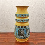 Ü KERAMIK VASE WITH IMPRESSED ABSTRACT DECOR 1400/30