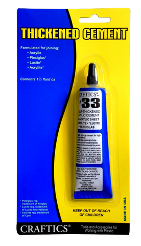 Thickened Cement #33, 1.5-oz tube
