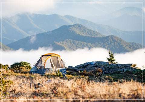 tenting-in-mountains
