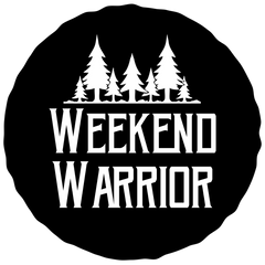 Weekend Warrior iron-on backpack patch