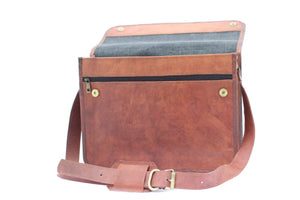 "Brazeau 15"" leather laptop bag 