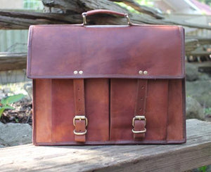 "Harrison 16"" Traditional Leather Briefcase 