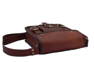 Brave Leather Tablet Bag | Mountain Messenger Co Natural Brown Leather Tablet Bag