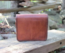 "Yoho 9"" Leather Messenger Bag for iPhones & small tablets 