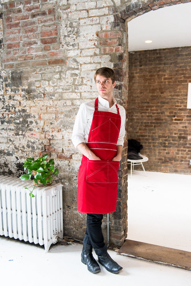 Premium White Line Eco-Friendly Apron