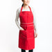 Eco friendly red apron