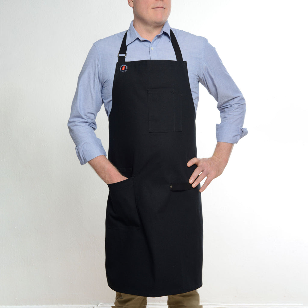 Modernist Black Apron