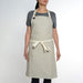 One Pocket Beige Apron